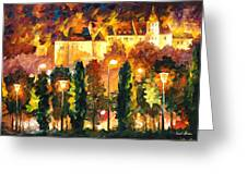 Revived Legend - Palette Knife Oil Painting On Canvas By Leonid Afremov Greeting Card