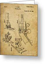 Revolving Gun Colt - Patented On 1836 Greeting Card