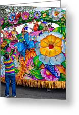 Rex Mardi Gras Parade Greeting Card