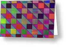 Rgby Squares II Greeting Card