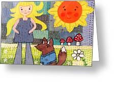 Rhian And Nog Greeting Card