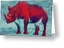 Rhino Greeting Card by Jack Zulli