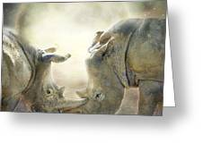 Rhino Love Greeting Card