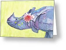 Rhino Whimsy Greeting Card