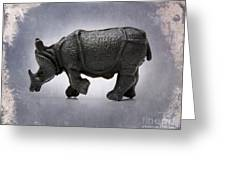 Rhinoceros Greeting Card by Bernard Jaubert