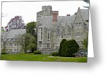 Rhoads Hall Bryn Mawr College Greeting Card by Georgia Fowler