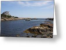 Rhode Island Seascape And House Greeting Card