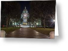Rhode Island State House In Providence Rhode Island Greeting Card