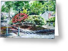 Rhododendrons In The Yard Greeting Card