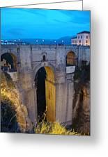 Rhonda Bridge Portrait At Twilight Greeting Card