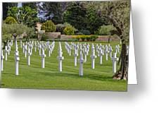 Rhone American Cemetery Greeting Card