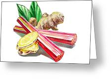 Rhubarb And Ginger Greeting Card