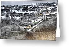 Rhymney Valley Winter 2 Greeting Card
