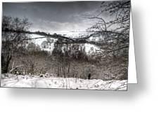 Rhymney Valley Winter 5 Greeting Card