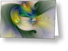 Rhythm Of Life-abstract Fractal Art Greeting Card