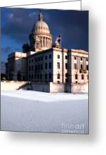 Ri State Capitol 1 Greeting Card