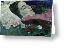 Ria Munk On Her Deathbed Greeting Card