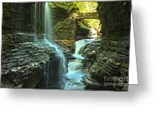Rainbow Falls Watkins Glen Greeting Card