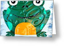 Ribbit The Frog License Plate Art Greeting Card