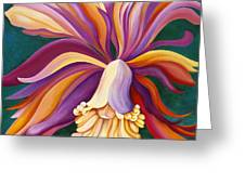 Ribbon Orchid Greeting Card