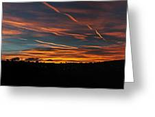 Ribbons Of Light Panorama Greeting Card