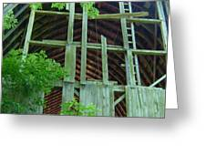 Ribs Of A Decaying Barn Greeting Card