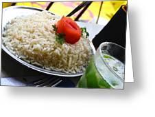 Rice And Caipirhina Greeting Card