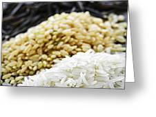 Rice Colors Greeting Card