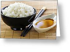 Rice Meal Greeting Card