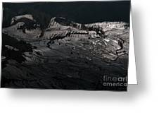 Rice Terrace In Black And White Greeting Card