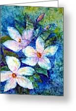 Ricepaper Blooms Greeting Card