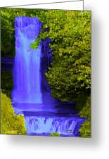 Rich Purple Wateful In The Spring Greeting Card