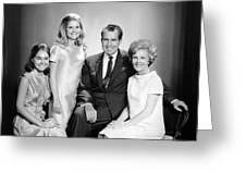 Richard Nixon And Family Greeting Card