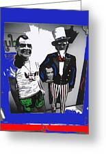 Richard Nixon Masks Uncle Sam Collage  Democratic National Convention Miami Beach Florida 1972-2008 Greeting Card