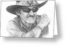 Richard Petty Pencil Portrait Greeting Card