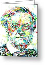 Richard Wagner Watercolor Portrait Greeting Card