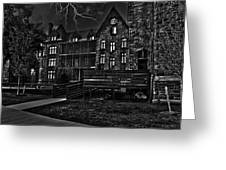 Richardson Complex B And W Greeting Card