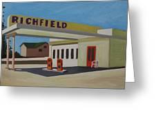 Richfield Gas Station Greeting Card