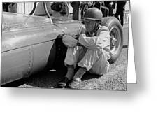 Richie Ginther Next To His Ferrari Greeting Card