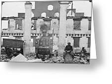 Richmond And Petersburg Depot Ruins  1865 Greeting Card