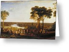 Richmond Hill On The Prince Regent's Birthday Greeting Card