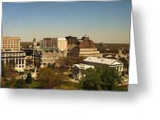 Richmond Virginia - Old And New Capitol Buildings Greeting Card