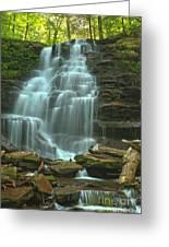 Ricketts Glen Cascading Falls Greeting Card