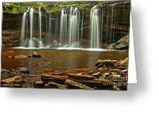Ricketts Glen Oneida Falls Greeting Card