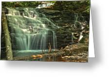 Ricketts Glen Shawnee Waterfall Greeting Card