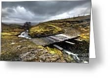 Rickety Bridge On Honiston Pass  Greeting Card