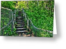 Rickety Stairs Greeting Card