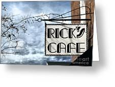 Ricks Cafe Greeting Card