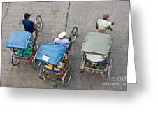 Rickshaw Driver - Bangkok Greeting Card