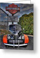 Ride A Harley Greeting Card